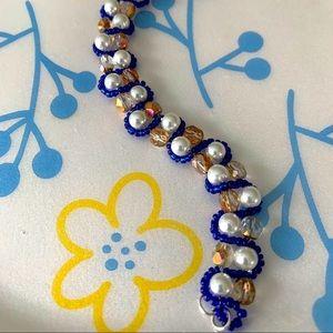 Bluewave white pearl Bracelet